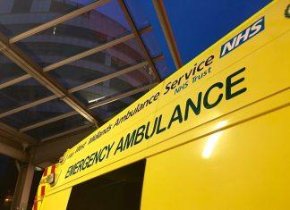 Ambulance at Queen Elizabeth Hospital