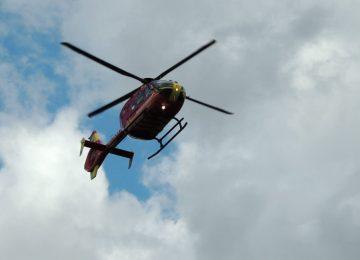Air Ambulance called after elderly women suffers serious leg injury