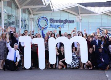 Birmingham Airport Celebrates 11 million passengers in 12 months