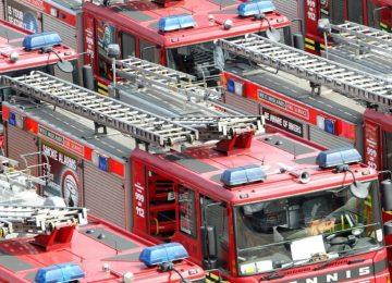 Emergency service training exercise in Birmingham