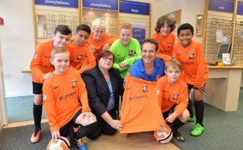 Kings Heath opticians partner with local youth football club