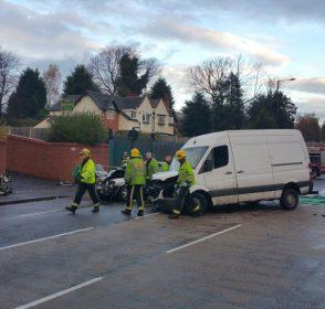 Car Crash  November Pershore Road Birmingham