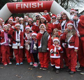Hundreds of Santa's suit-up for Acorns Children's ho… ho… hospice
