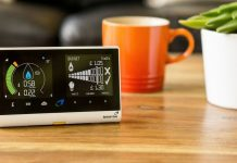 Picture of a British Gas Smart Meter on a coffee table